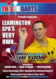 Nigel heydon this is darts poster 2010