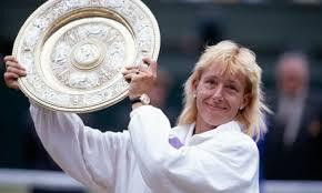Martina with Wimbledon plate