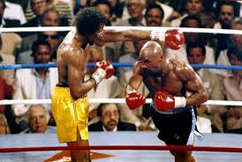 Hagler Hearns Action Shot