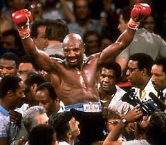 Hagler Held Aloft
