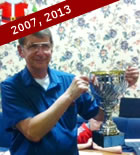 Typically the trophy in this pic was won six years apart by the enigma that is Les Delderfield