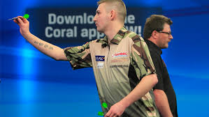 Young Nathan Aspinall playing the role of David to James Wade's Goliath in 2015
